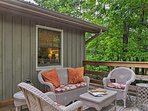 Curl up with a good book on the deck and listen to the sounds of nature.
