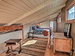If you're looking for privacy, retreat to the furnished loft.