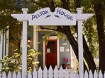 Pelton House sign from B st.