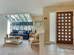 The large family room welcomes you in comfort and style