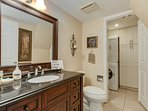 First floor powder room and laundry room