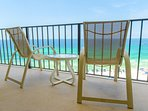 There is no better place than your private balcony to be watching the waves and the sand!