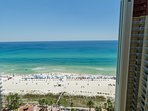 Stunning views from the balcony!  You'll spend lots of time out here just watching the beach and pool!