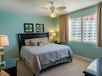 King sized bed in master suite has a posh mattress and high thread count linens, oh-so-comfy!  You'll feel like you are...