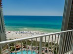 This is the view from your private balcony!   Wow!  You have a private parking space, too on the 4th floor of the...