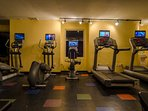 State of the Art Fitness Center is free for use by our guests!  Plenty of machines so you won't have to skip your...