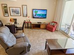 Enjoy watching your favorite shows or the big game on the man-sized TV.  DirecTV provided through out the condo.  The...