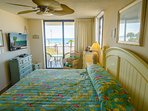 Amazing Gulf views from your master bedroom sliding door that opens on to the balcony.