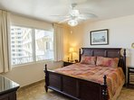 Large comfy island inspired king-sized poster bed with luxury high thread count sheets and a memory foam mattress...