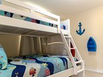 The Crew's Quarters bunk room is great for the little ones.  The twin over full bunk set is very cozy.