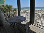 Ideal view from your beach front balcony
