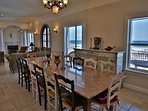 Enjoy your meals at the custom granite dining table