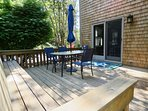 Side deck makes a great, private outdoor gathering place
