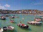 Beautiful St Ives harbour, just 2 minutes walk away
