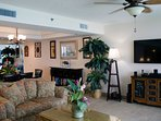 Man-sized 50' TV with DVD player & leather recliner in the great room are great for kicking back and watching the big...