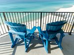 Enjoy a little shade while you watch the gentle waves.  The balcony has a table and plenty of chairs for al fresco...