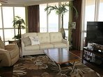 Exclusive full floor, beach front condo, with 360 degree panoramic views of Gulf Shores Alabama.