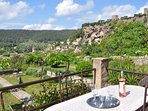 The best spot to taste your rose wine with view over Cotignac