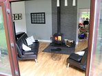Conservatory and wood burner