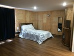 Spacious ground-level room with private entrance, private bath, and in-room coffee service