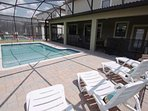 Oversize Lanai & Pool Area - Access From Dining Area & Downstairs Master King Suite