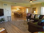 Living Room w/ Sectional & Queen Sleeper