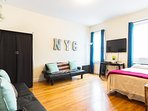 Nicely spaced out 2 bedrooms apt set up perfectly for families, groups, couples & anyone visiting NY