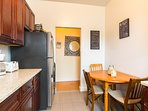 The Kitchen also has seating for 3-4, microwave, toaster, fridge, freezer, coffee maker.