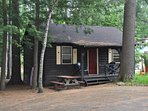 two bedroom Adirondack cabins with lots of knotty pine
