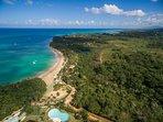 Las Ballenas beach cost line