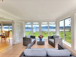 Relax in the sun room and enjoy the views.
