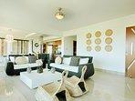 Penthouse spacious living area