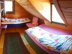 Bedroom3 with comfortable bed sofa + queen size bed (120cm, double foam mattresses).
