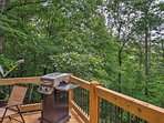 Listen to the river and look for wildlife while you unwind on the deck.