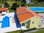 Property size 4.000 sq meter offers private pool, tennis court, playground...
