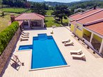 Villa Delmati with private 60 sq meter pool, whirlpool, summer kitchen with BBQ
