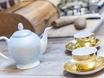 Enjoy a spot of English breakfast tea. And why not? When in England do as the English to!