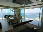 Panoramic views from the dining room
