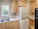 Laundry Rm #1 with washer and drier and full sized refrigerator.  Located on main floor.