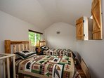 Twin beds for the kids in loft