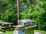 Picnic area with gas grill available