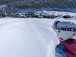 Esterno dalle piste di sci di San Rocco, Skilift nr 17 collegato con il Carosello 3000