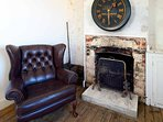 leather chesterfield arm chair