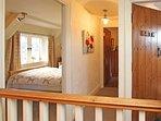 Master bedroon with double bed and lots of character