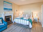 This spacious king-size bedroom is on the ground floor