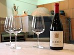 Join us for a taste! Terrus Wine produced and bottled on the estate!
