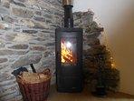 Log burner in snug room