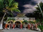 Hacienda Antigua by night