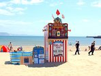 Punch and Judy on Weymouth beach through the summer