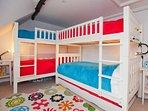 The fun bedroom